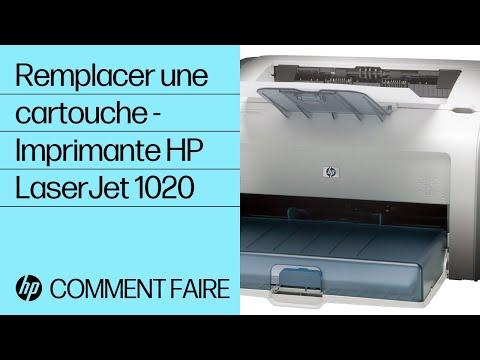 Remplacer une cartouche - Imprimante HP LaserJet 1020