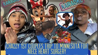 Chazzy 1st couples trip to Minneapolis Minnesota to support our niece with her 3rd heart surgery