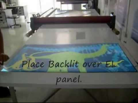 How to Made an Electroluminescent Poster