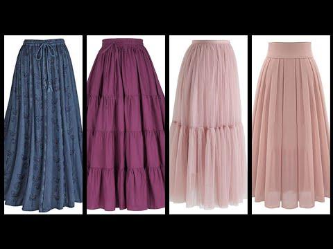 Long flayed maxi skirts styles - 45 stylish ways to wear maxi skirts - maxi skirts easy ideas 2k20