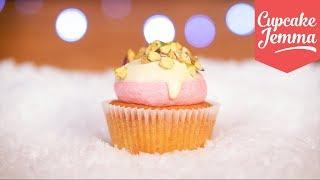 Cranberry, Pistachio & White Chocolate Cupcakes for Christmas! | Cupcake Jemma by Cupcake Jemma