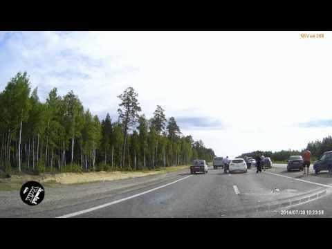 ДТП на трассе Югорск-Советский. ХМАО 30.07.2014.г