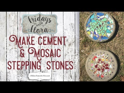 Make DIY Concrete Mosaic Stepping Stones for the Garden, Ep 37 Fridays w/Flora