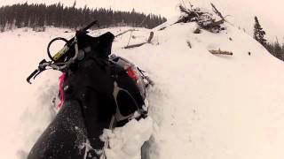 10. Polaris Dragon 800 getting stuck in 5 feet of snow in the mountains in my back yard.