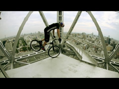 Biking - Red Bull athlete Kenny Belaey did a Trial Bike performance on the iconic TV Tower in Nagoya, Japan. Kenny also reflects on his motivation for trial riding, a...