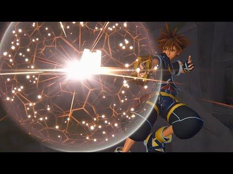 Kingdom Hearts III Gameplay - Hercules' Titan Boss Fight (видео)