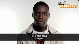 Kapenda from Namibia helps us learning Afrikaans! WEES (to be) is one of the Keywords to know in Afrikaans. With this tutorial Kapenda is going to teach you ...