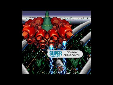 Axelay SuperGrafx Demo by Chris Covell, 2004 | SuperGrafx (PC Engine SG)