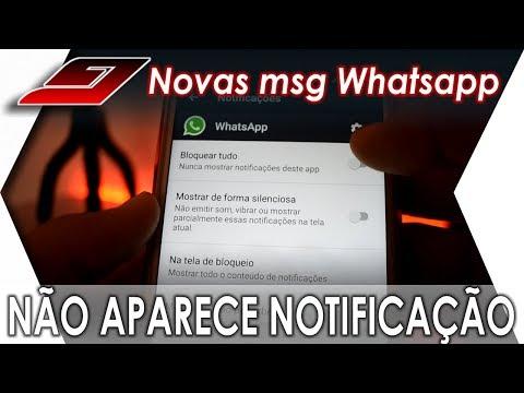 Mensagens para whatsapp - WHATSAPP NÃO NOTIFICA mensagens recebidas - RESOLVIDO  Guajenet