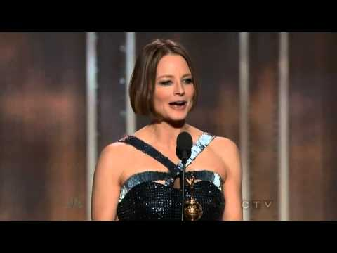 Jodie Foster wins the Cecil B. DeMille Award - Golden Globes 2013 HQ