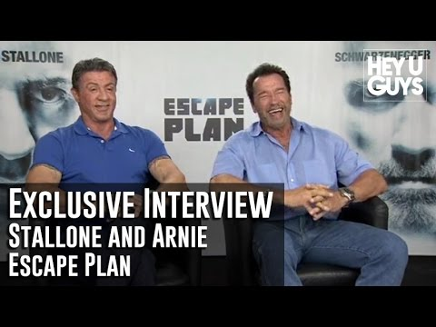 Schwarzenegger - Joel Jaggar interviews asked Sylvester Stallone and Arnold Schwarzenegger for their movie Escape Plan which is directed by Mikael Håfström.