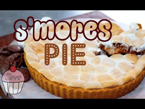s'mores pie con marshmallow