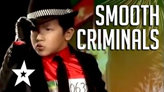 Download Video Smooth Criminals! 5 Amazing Michael Jackson Tributes | Got Talent Global MP3 3GP MP4