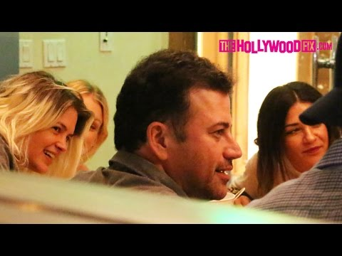 Jimmy Kimmel Has Dinner With Cute Blonde Girls At Connie & Ted's Seafood Restaurant 5.29.15