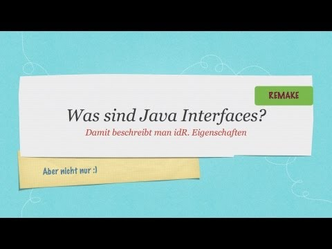 #10 Java Tutorial: Interfaces #neue Version