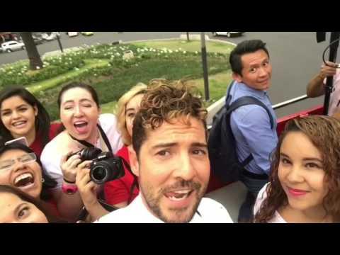 Turibus con el club de fans y medios de comunicación