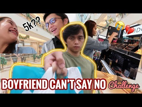 MY BOYFRIEND CAN'T SAY NO CHALLENGE!! (UBOS ANG PERA) | PHILIPPINES
