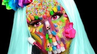 FULL Face Of KIDS Nail Polish & Nail Art! | Crazy Nail Polish Zombie SFX Makeup! by GlitterForever17