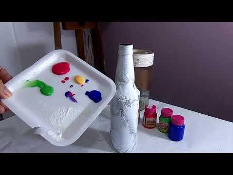 Pintura Abstrata em garrafa