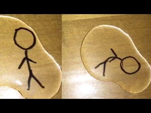 Magic Marker Stick Man Comes to Life