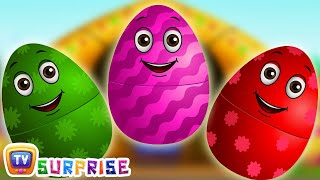 Learn Colours and Farm Animals with ChuChu TV Surprise Eggs Nursery Rhymes. Make your kids enjoy the surprise and learn Colours, Farm Animals and their favor...