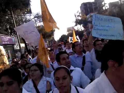 Marcha de profesionalización de enfermería ENEO