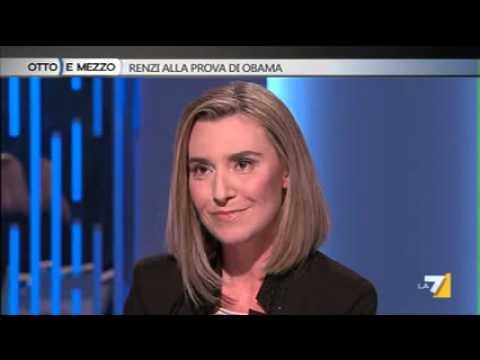 Ministro Mogherini a Otto e Mezzo
