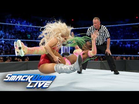 Naomi vs. Lana - SmackDown Womens Title Match: SmackDown LIVE, June 27, 2017_Sport videók
