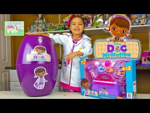 Doc McStuffins Surprise Egg w/ Check-Up Bag & Play-Doh! Doc McStuffins Toys