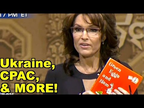 sarah - 0:44 CPAC 19:34 Ukraine 1:01:30 Missing Malaysian airliner 1:08:06 Responding to live viewer comments 03/09/14 clips: Jay Pharaoh, Colin Jost on Saturday Nig...
