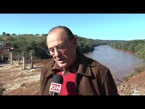 Folha On - Ponte está sendo construída entre Rodeio Bonito e Liberato Salzano