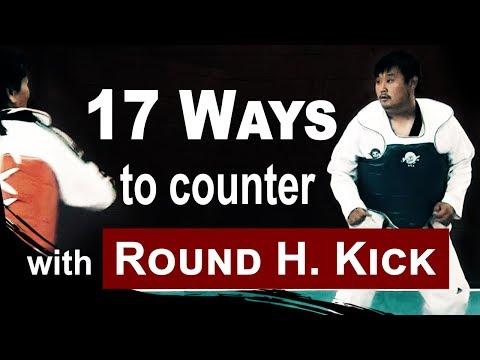 17 Different Ways to Counter with Round House Kick   Taekwondo Sparring 101   TaekwonWoo
