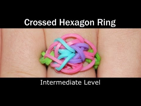 Rainbow Loom® Crossed Hexagon Ring
