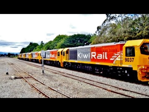6 NEW KiwiRail DL Class Locomotives with DXB 5080 @ Ave Road