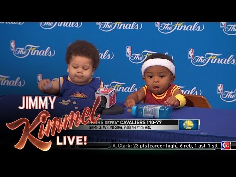 Press Conference With Baby Steph Curry and Baby