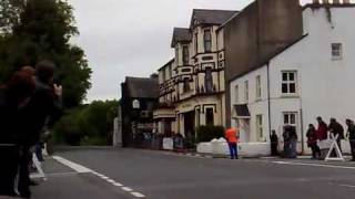 Moto GP bike at full throttle through the Sulby Straight