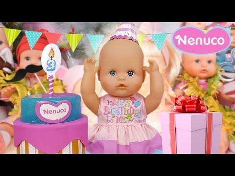 Grande fête d'anniversaire avec Nenuco 🎂🎁 Beaucoup de cadeaux et un gâteau avec Chloé et Emma