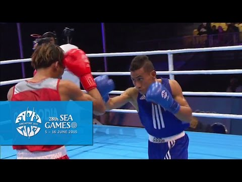 Boxing (Day 2) Men's Light Flyweight (46kg-49kg) - Bout 21 | 28th SEA Games Singapore 2015