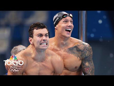 Caeleb Dressel, Team USA win gold in 4x100m men's freestyle relay | Tokyo Olympics | NBC Sports