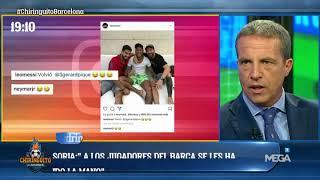 El tertuliano de 'El Chiringuito', Cristobal Soria, aseguró que los jugadores del Barça le están tomando un pulso a la directiva.