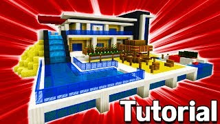 "Minecraft Tutorial: How To Make A Modern Beach Mansion ""Modern Mansion #8"""