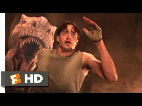 Journey to the Center of the Earth (9/10) Movie CLIP - Running From the Tyrannosaurus (2008) HD