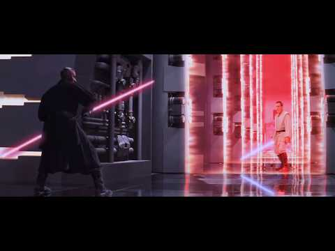 DARTH MAUL - Star Wars : The Phantom Menace - Lightsaber Fight - RE-CUT in HD!!!