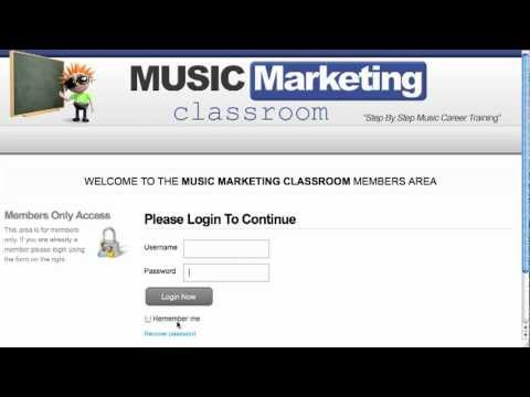 How To Login to Music Marketing Classroom
