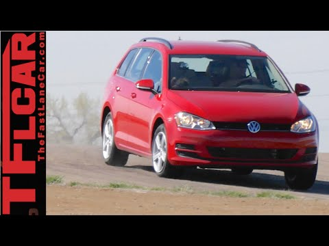 2015 VW Golf Sportwagen TDI 0-60 MPH & MPG & Track Review