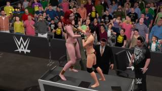 Giganta vs. Sonya Deville in a Falls Count Anywhere Bikini match.
