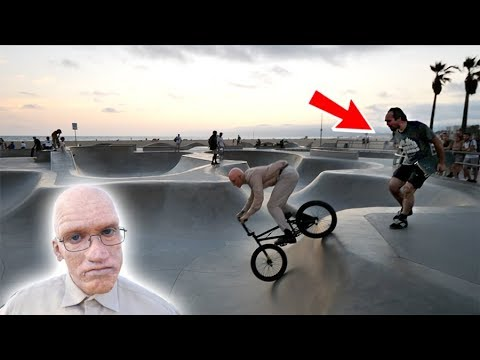 Video *OLD MAN RIDING A BMX* THINGS GOT CRAZY! download in MP3, 3GP, MP4, WEBM, AVI, FLV January 2017