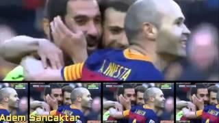 İspanya La Liga'da Barcelona, sahasında Getafe'yi 6-0 mağlup ederken, Arda Turan attığı rövaşata golüyle tribünlerden alkış aldı. Milli futbolcu Messi'nin attığı ilk golün de asistini yaptı.