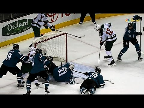 Video: Ryan Suter out waits Martin Jones, feeds Eric Staal for easy tap in