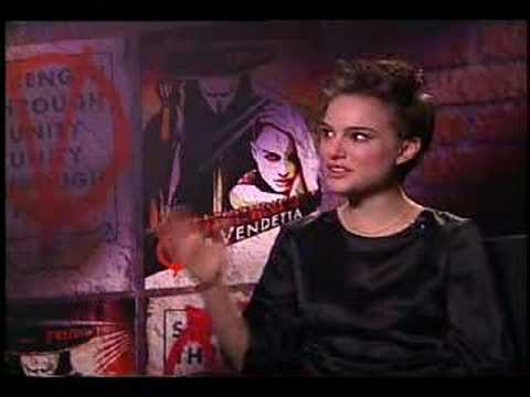 Chuck the Movieguy interviews Natalie Portman for the movie V for Vendetta